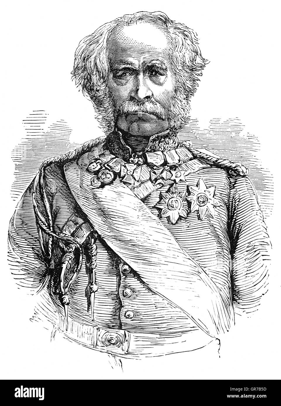 Field Marshal Hugh Gough, 1st Viscount Gough,(1779 – 1869) was a British Army officer. He commanded the 2nd Battalion - Stock Image