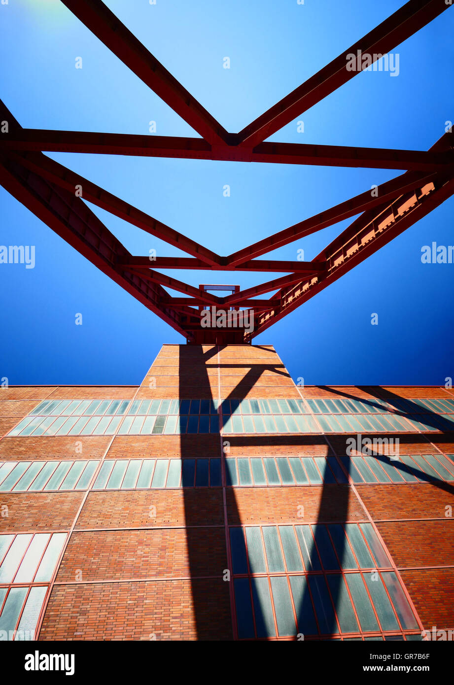 Zeche Zollverein Industrial Heritage Route Essen Nordrhein Westfalan Germany Europe - Stock Image