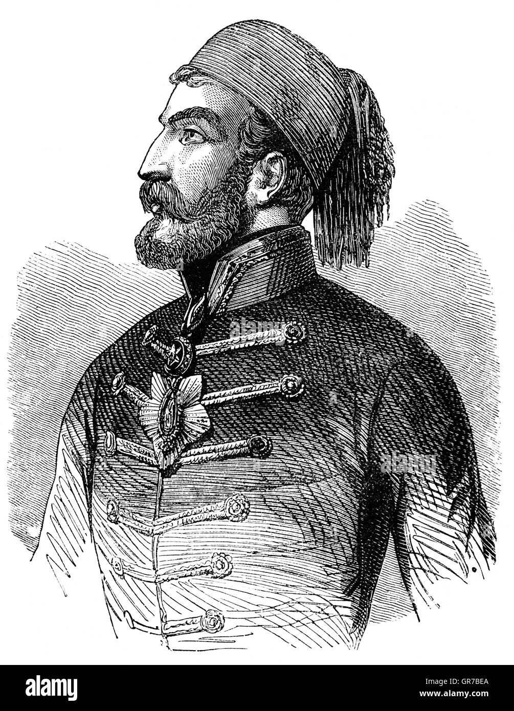 Omar Pasha Latas (1806–1871) was an Ottoman general and governor. He was  initially an Austrian soldier, but when - Stock Image