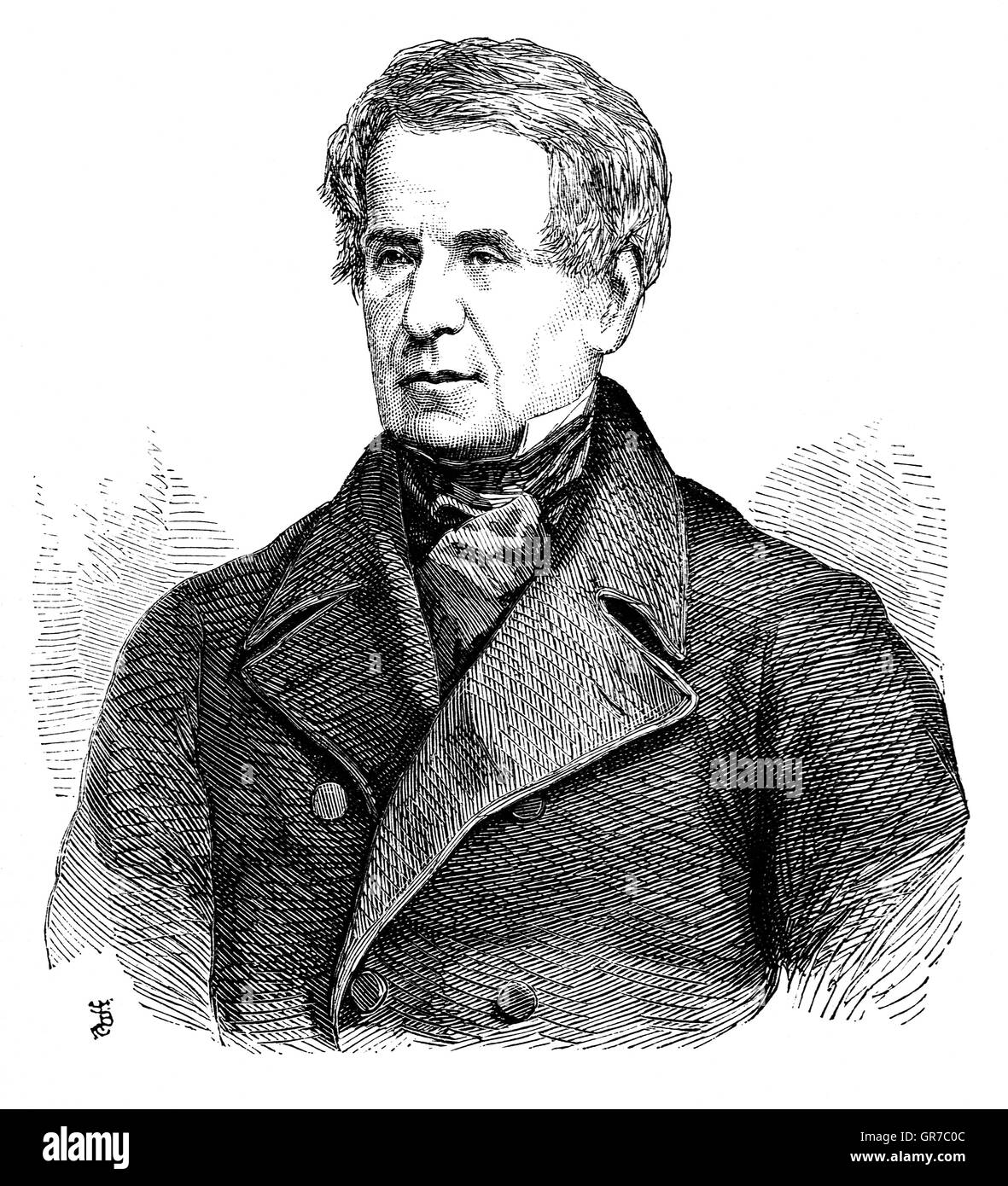 Richard Bickerton Pemell Lyons, 1st Viscount Lyons (1817 – 1887) was an eminent British diplomat. In December 1858, - Stock Image
