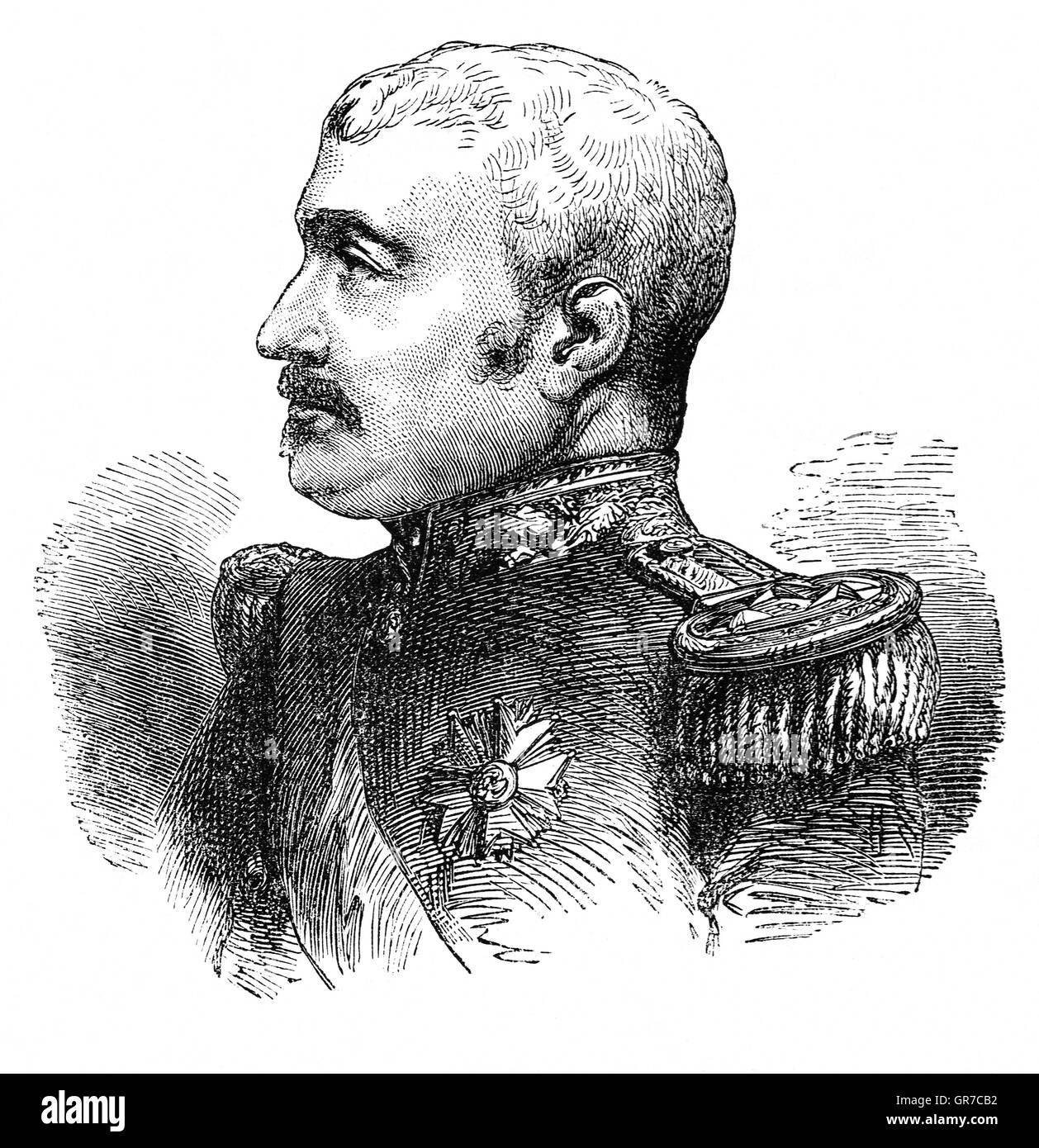 Aimable-Jean-Jacques Pélissier, 1st Duc de Malakoff (1794 –1864), was a Marshal of France.   In 1855 he succeeded - Stock Image