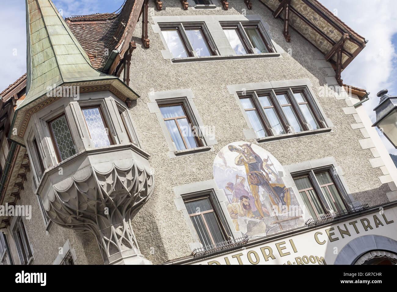 Als Denkmal Oder Auch Malerei Allgegenwärtig In Altdorf - Stock Image