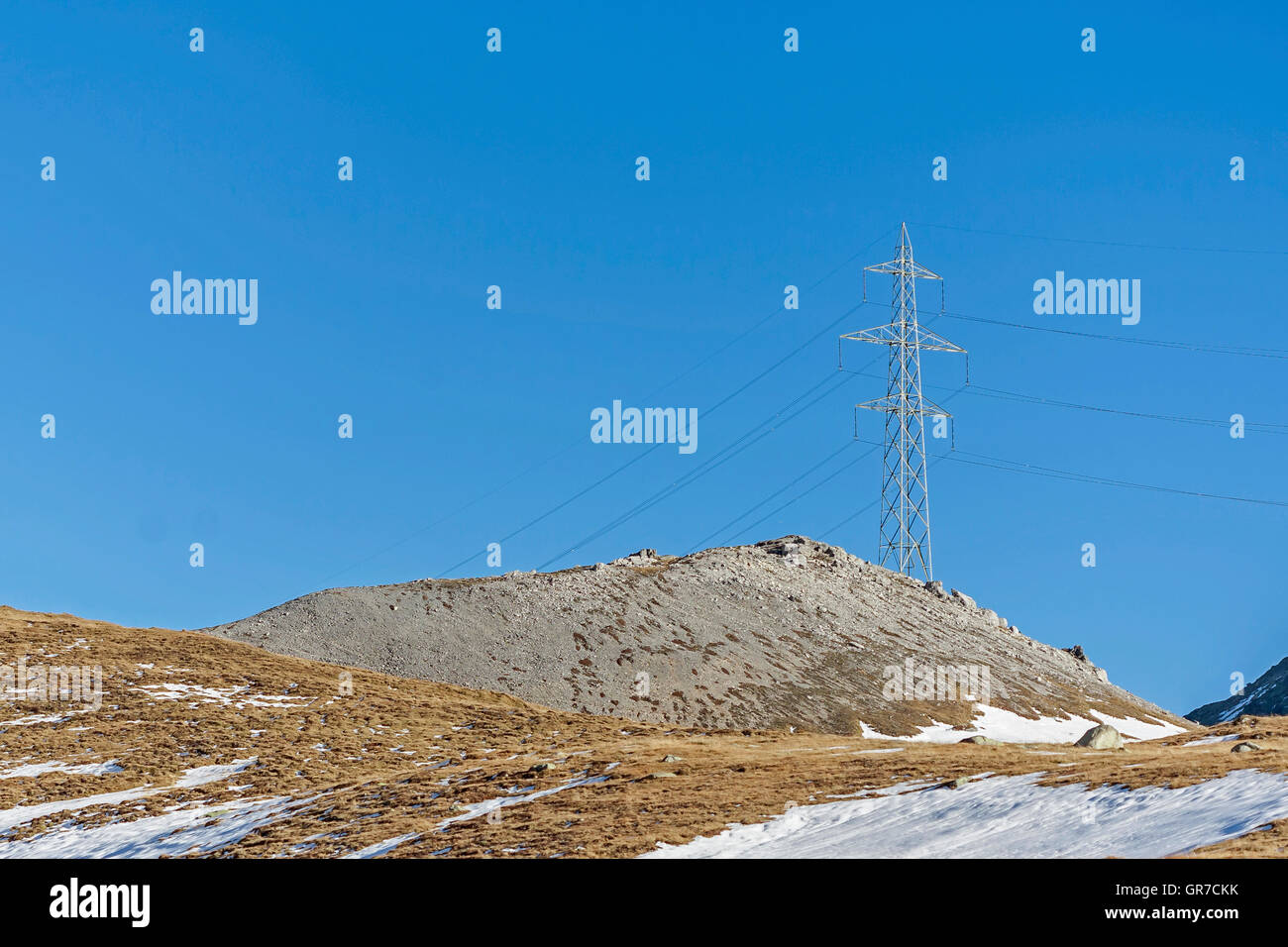Energy Sources In Alps - Stock Image