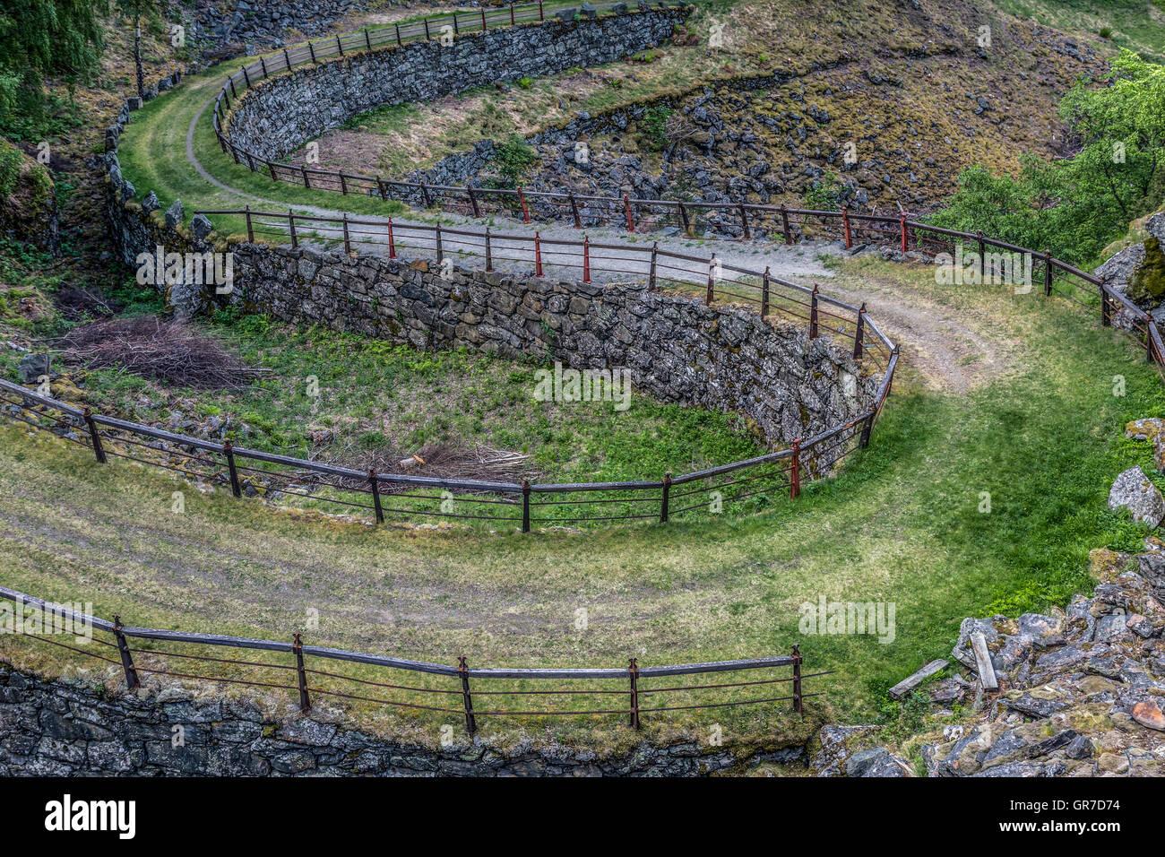 Ein Alter Königsweg Zwischen Oslo Und Bergen Wird Heute Als Wander- Und Bikeroute Genutzt - Stock Image