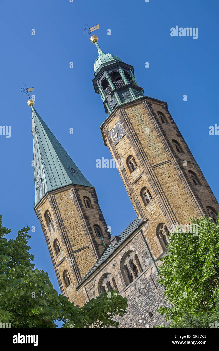 St. Cosmas And Damian Is The Parish Church Of The Historic Town Of Goslar - Stock Image