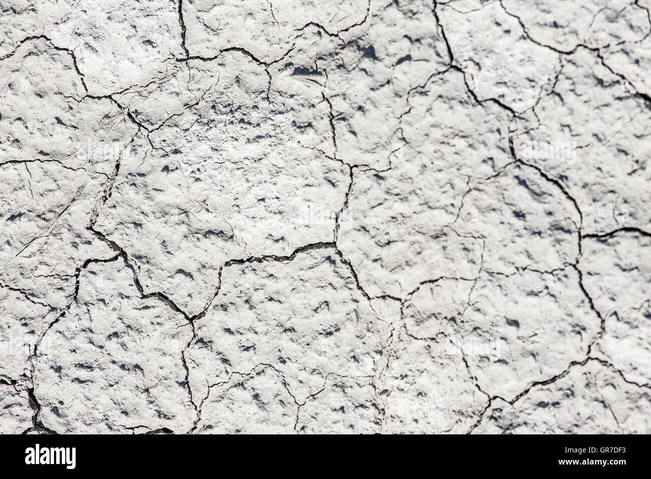 Dried Ground After A Hot Summer In The Tuscan Crete - Stock Image