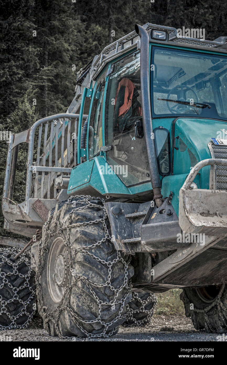 With These Tires The Tractor Is Always Landforms - Stock Image