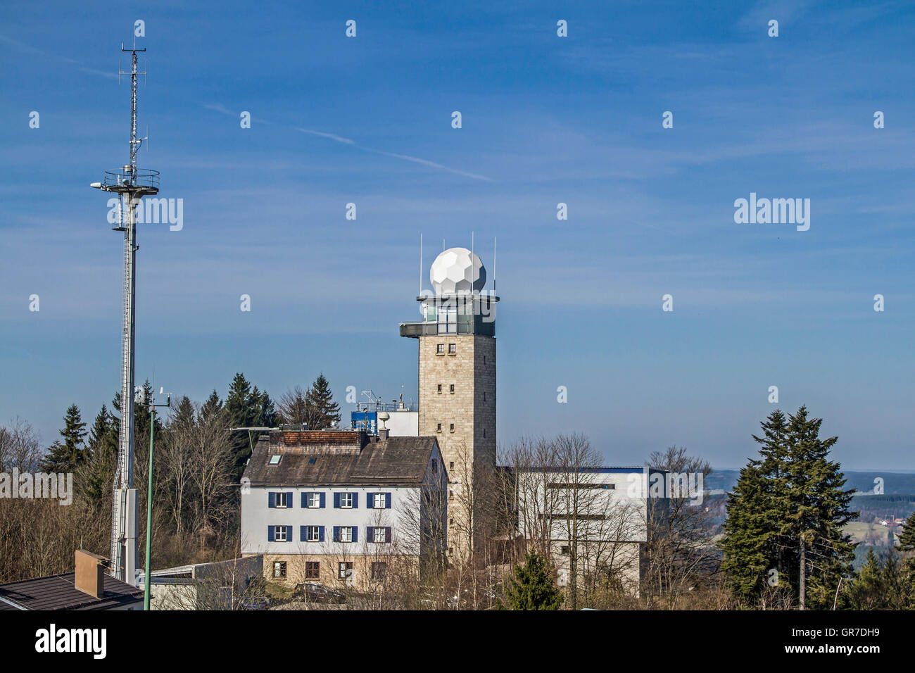 The Meteorological Observatory On The Hohenpeissenberg Is Considered The Oldest Mountain Weather Station In The - Stock Image