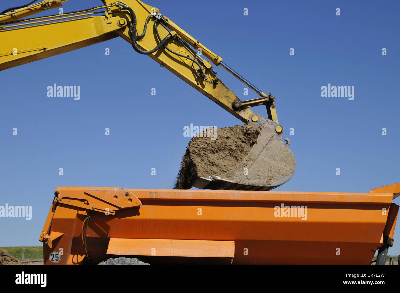 Excavator Truck Filled - Stock Image