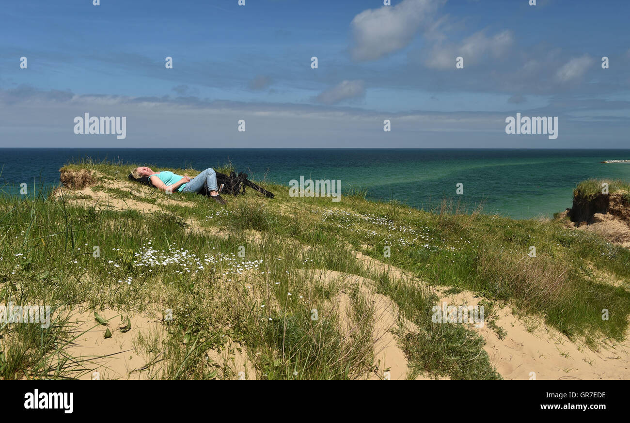 Sleeping By The Sea - Stock Image