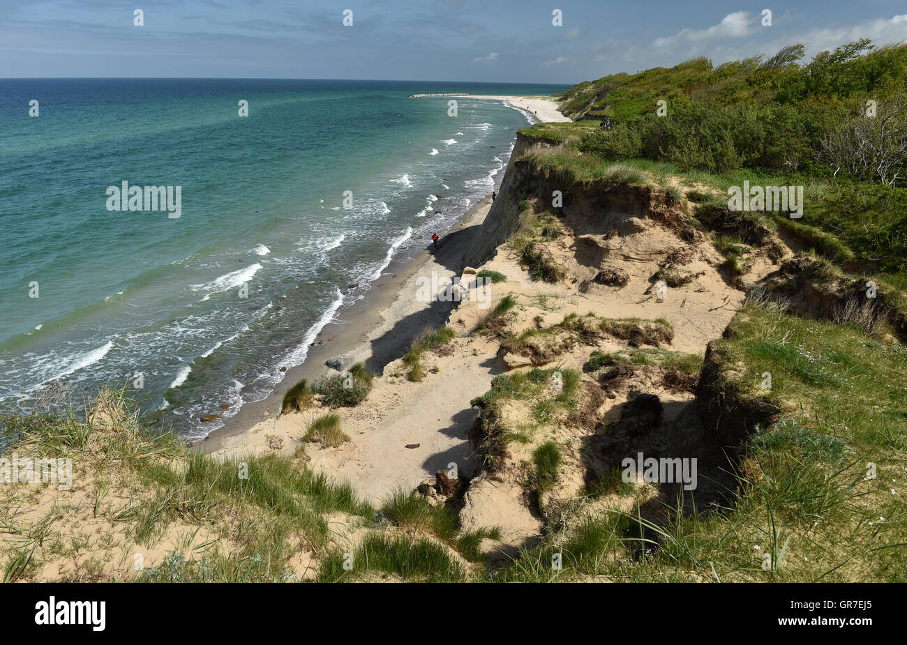Cliff On The Baltic Sea - Stock Image