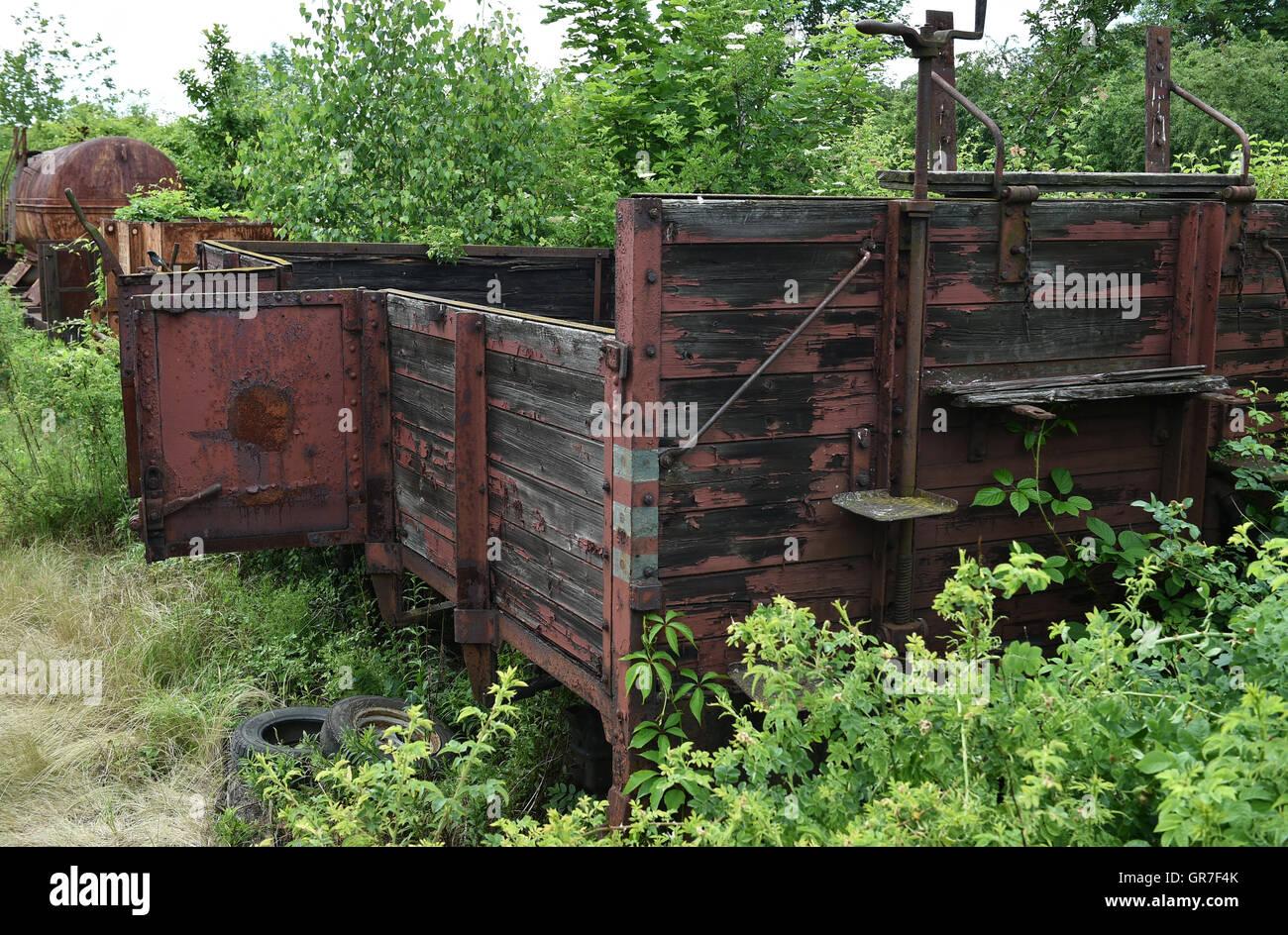 Age Railroad Car - Stock Image