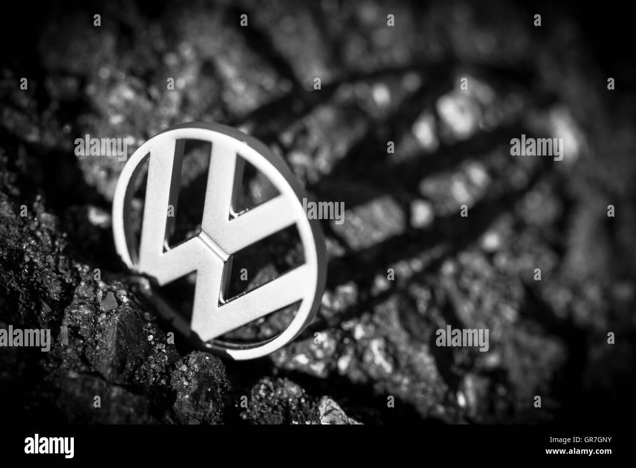 Vw Logo, Vw Scandal Stock Photo
