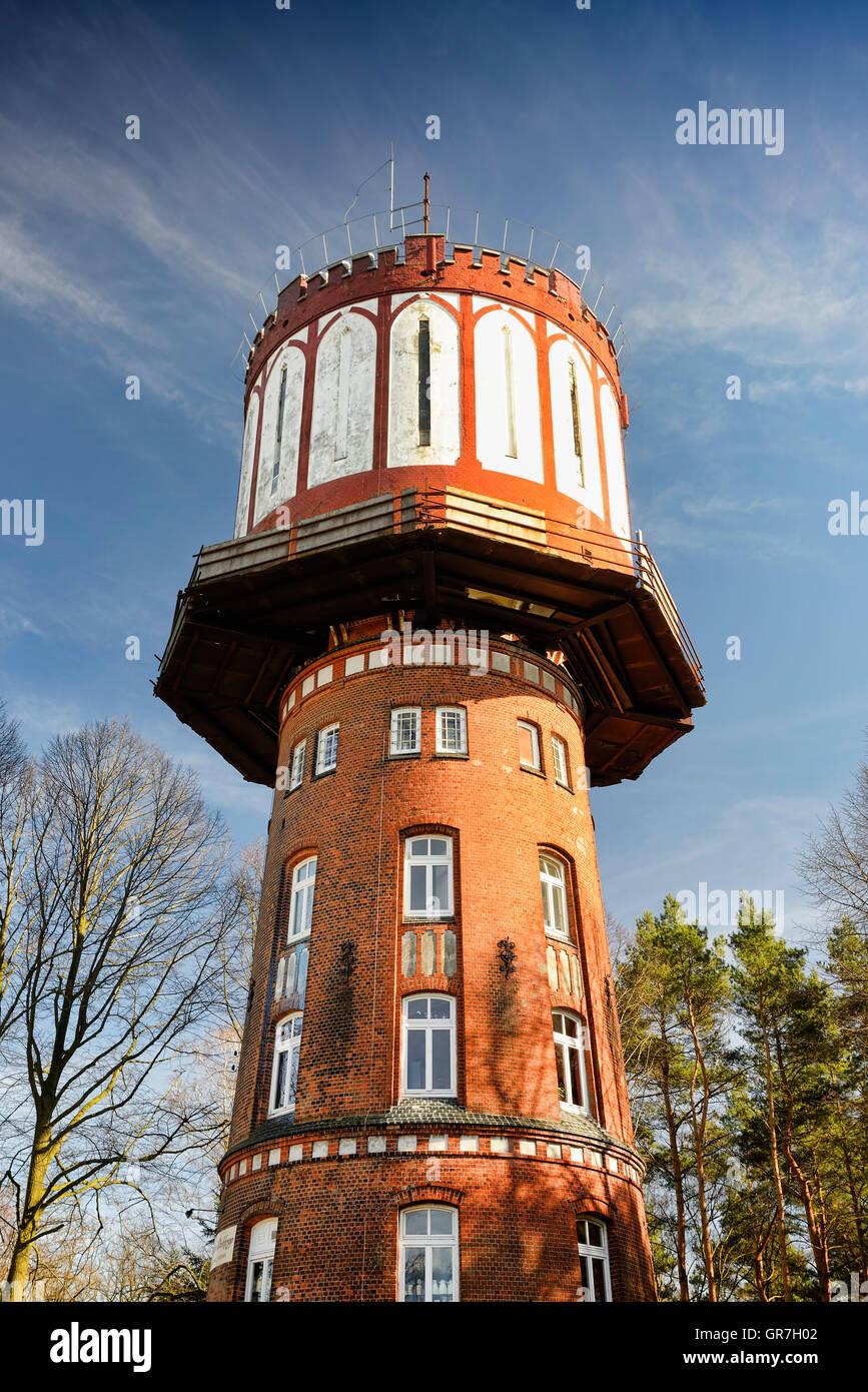 Water Tower Sander Dickkopp In Hamburg, Germany - Stock Image