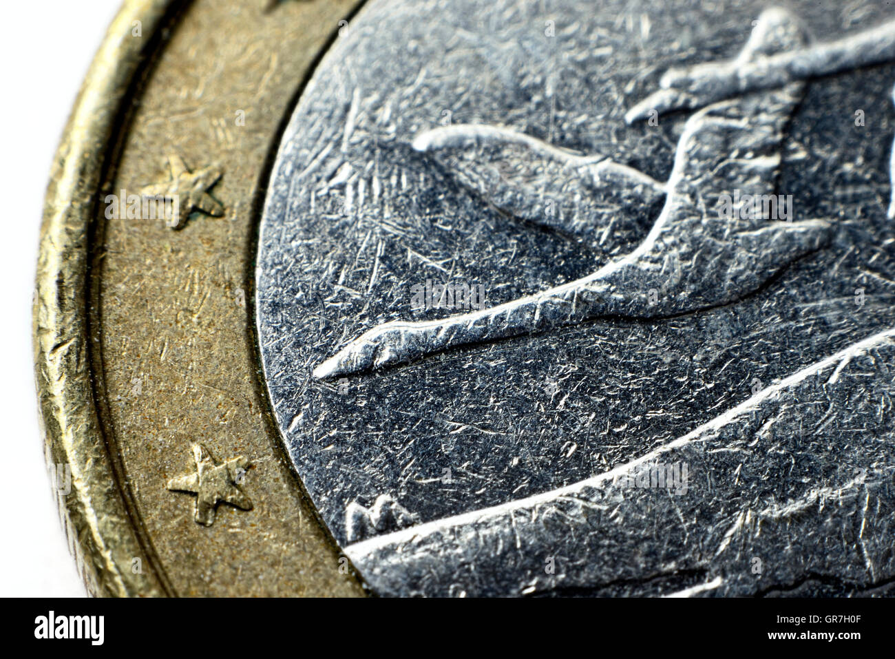 Finnish One Euro Coin - Stock Image