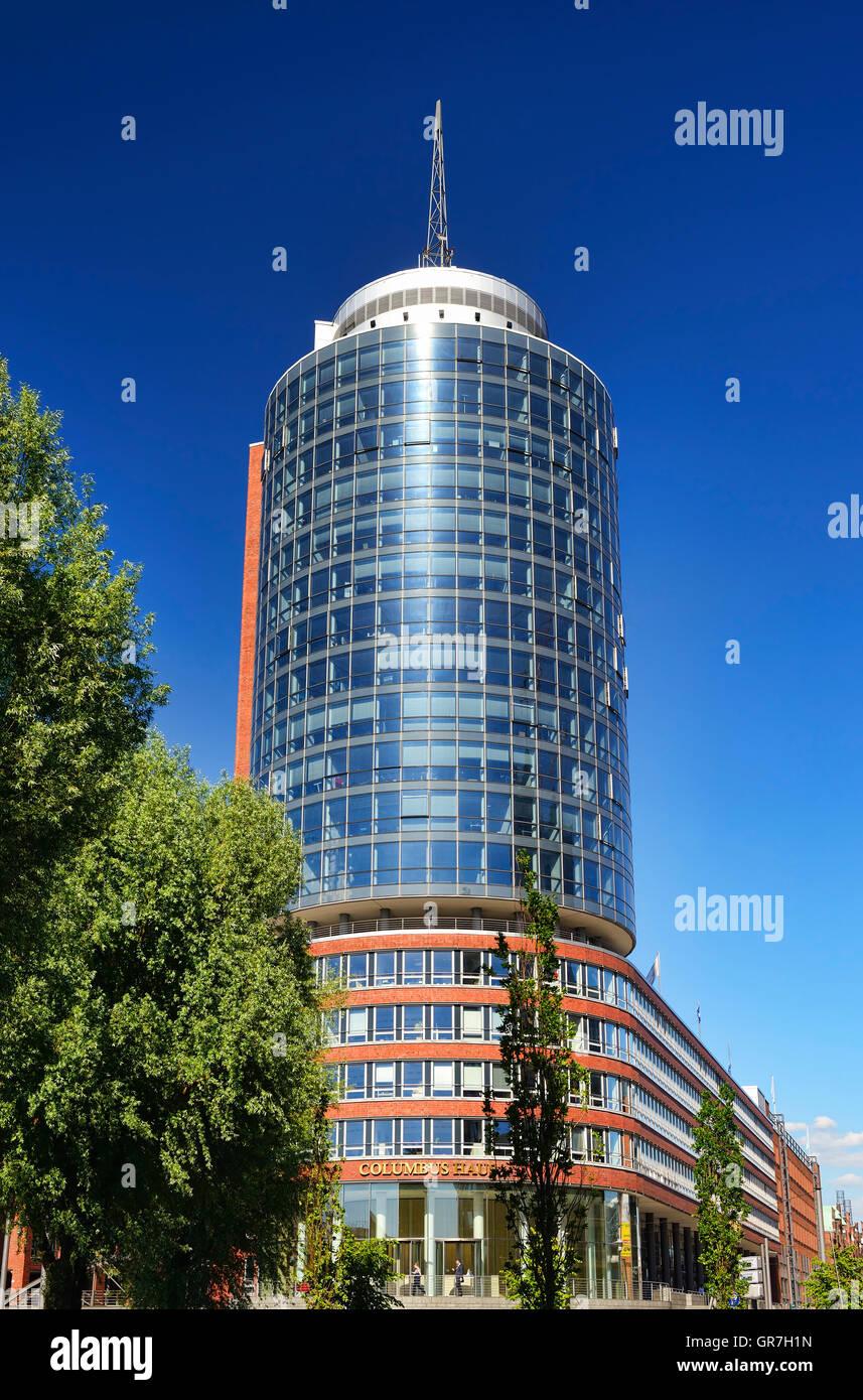 Columbus House Office Building In Hamburg, Germany - Stock Image
