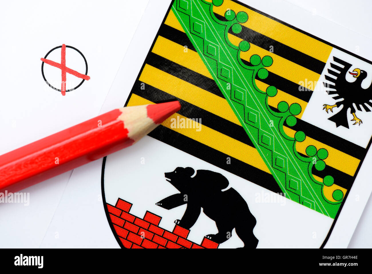 State Election In Saxony Anhalt - Stock Image