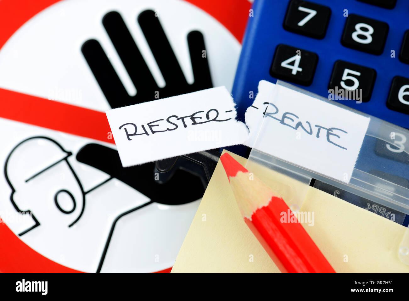 German Riester Pension - Stock Image