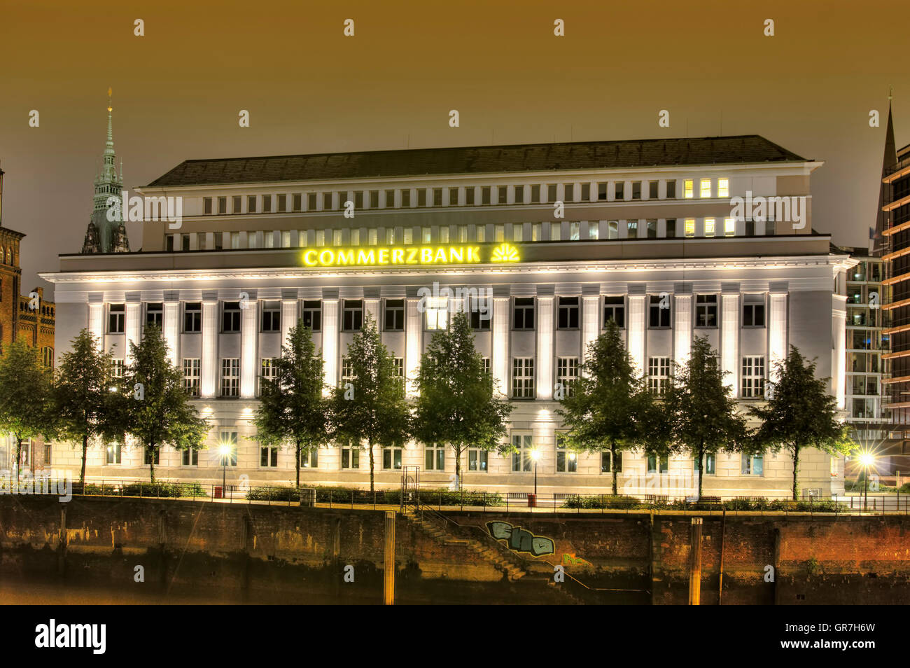 Commerzbank Building In Hamburg, Germany - Stock Image