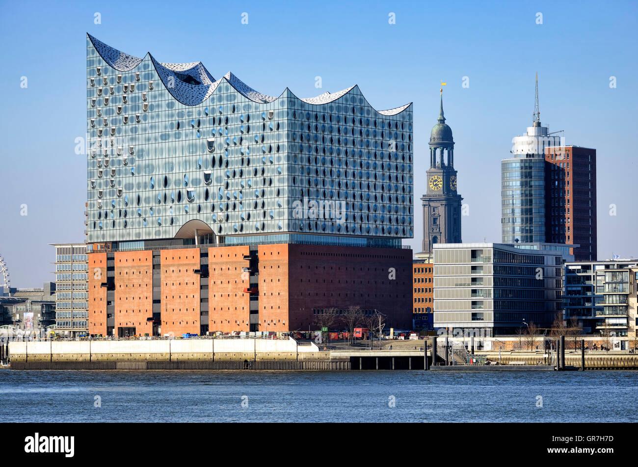 Elbe Philharmonic Hall In Hamburg, Germany - Stock Image