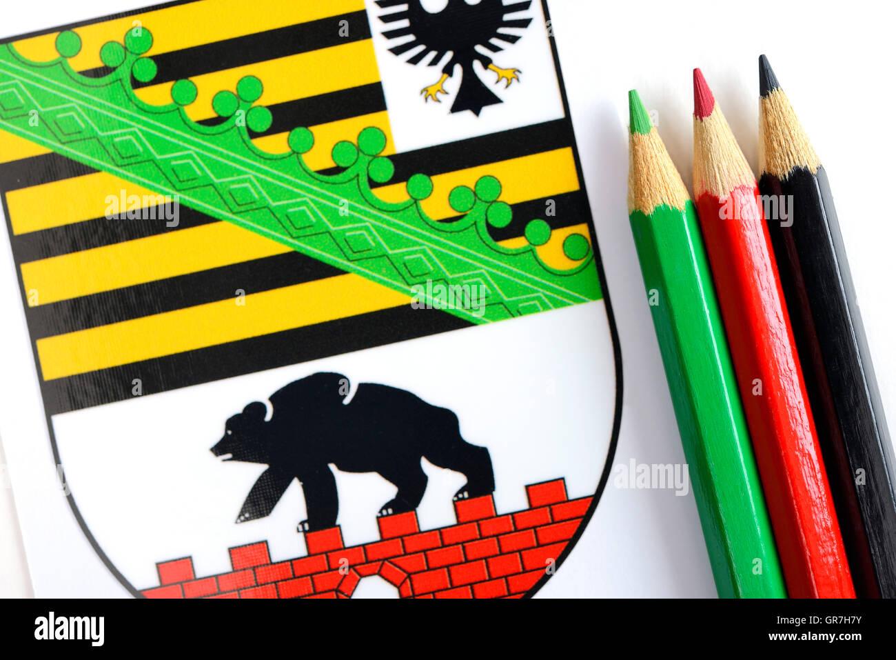 Saxony-Anhalt, Black-Red-Green Coalition - Stock Image