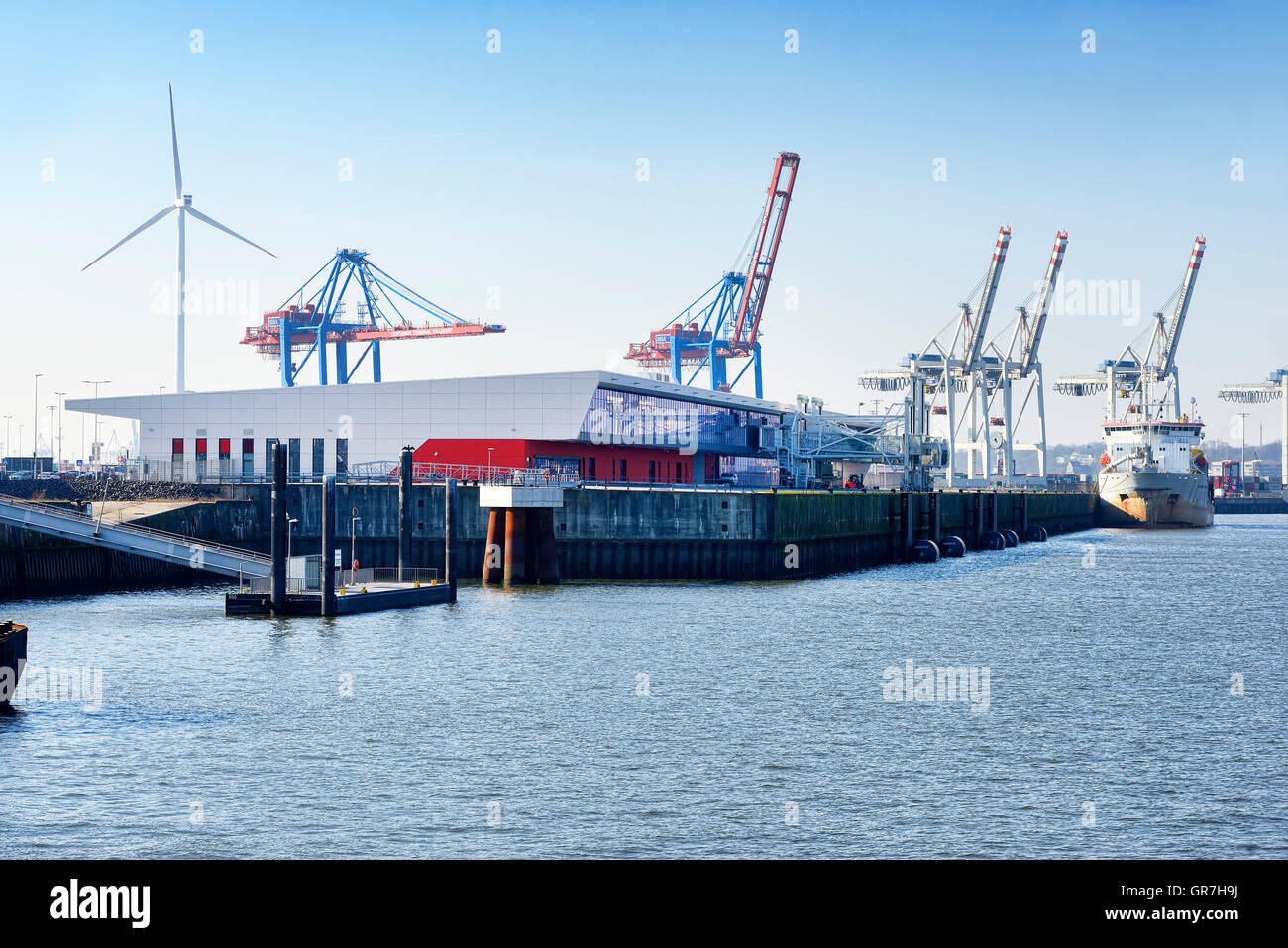 Cruise Terminal Steinwerder In Hamburg, Germany - Stock Image