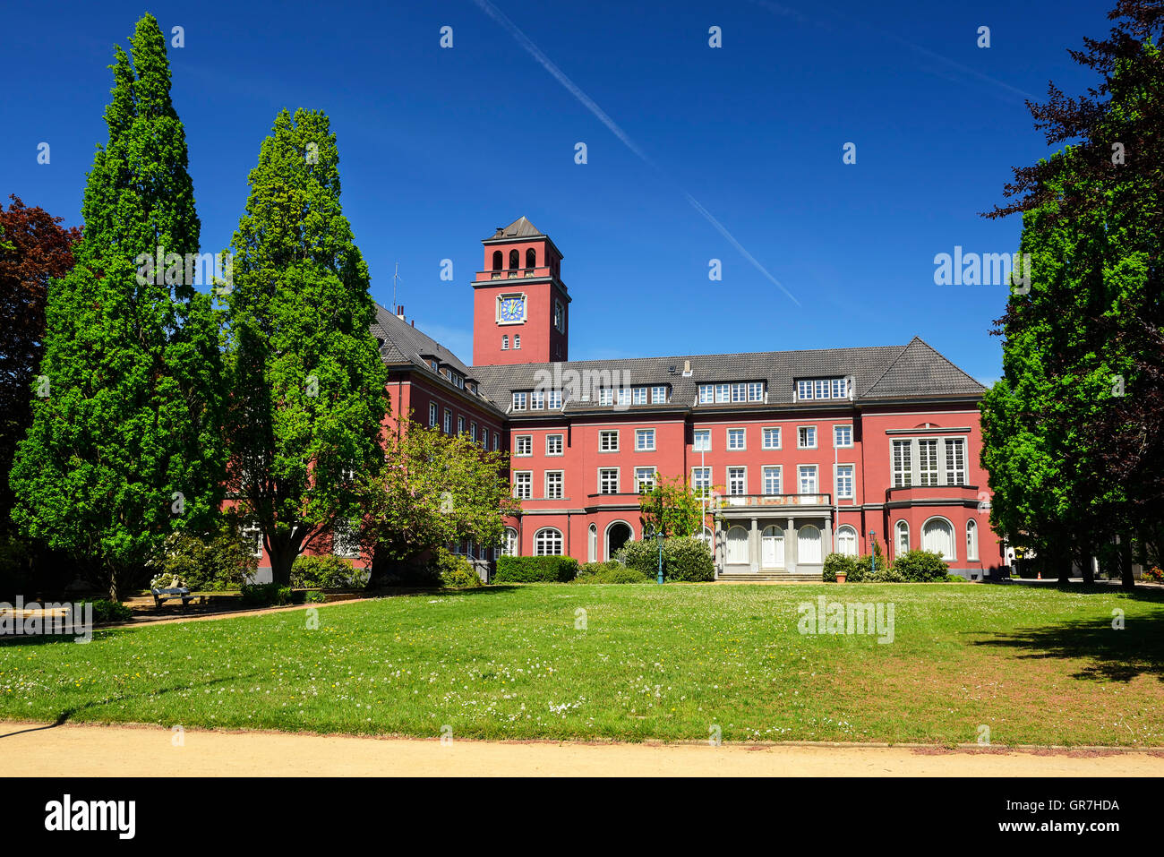 Town Hall In Bergedorf, District Of Hamburg, Germany - Stock Image