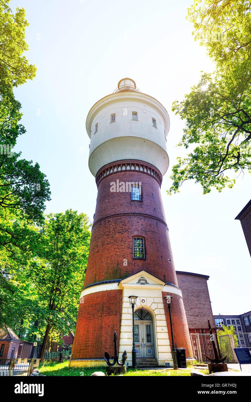 Water Tower In Bergedorf, Hamburg, Germany - Stock Image
