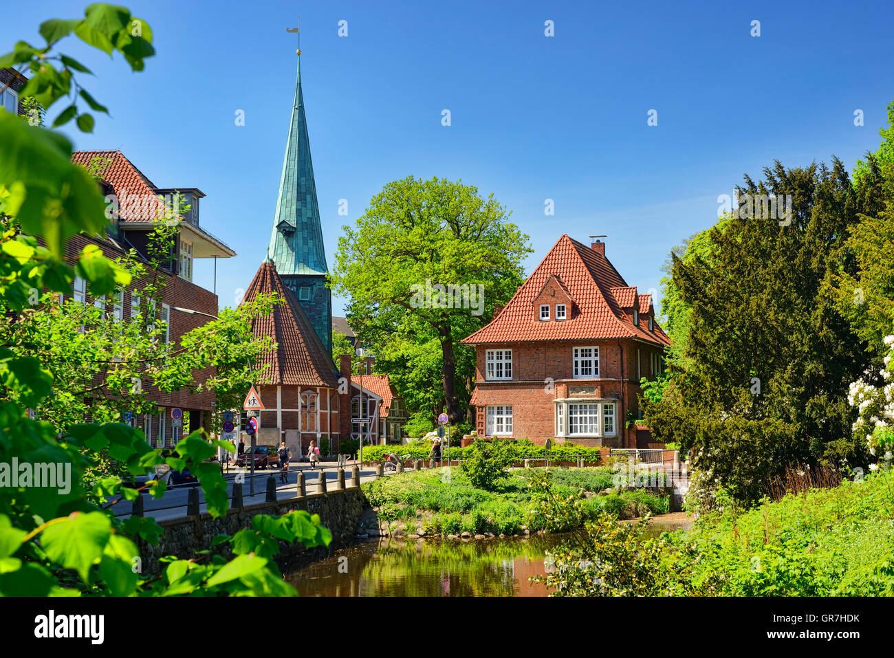 Church In Bergedorf, Hamburg, Germany - Stock Image
