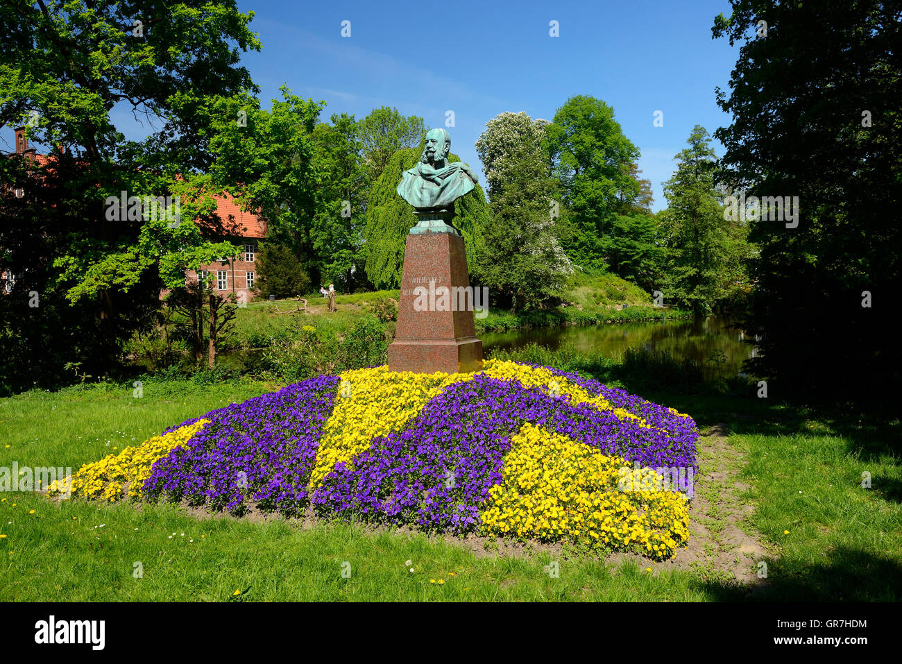 Wilhelm I. Monument In Bergedorf, Hamburg, Germany - Stock Image