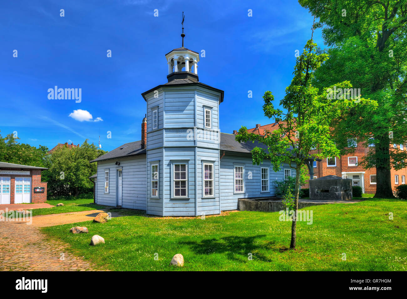 Historical Railway Building In Bergedorf, Hamburg, Germany - Stock Image