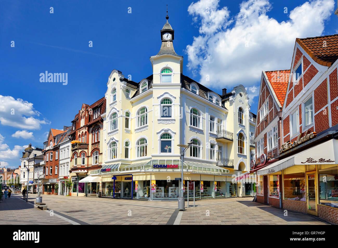 Shopping District Sachsentor In Bergedorf, Hamburg, Germany - Stock Image
