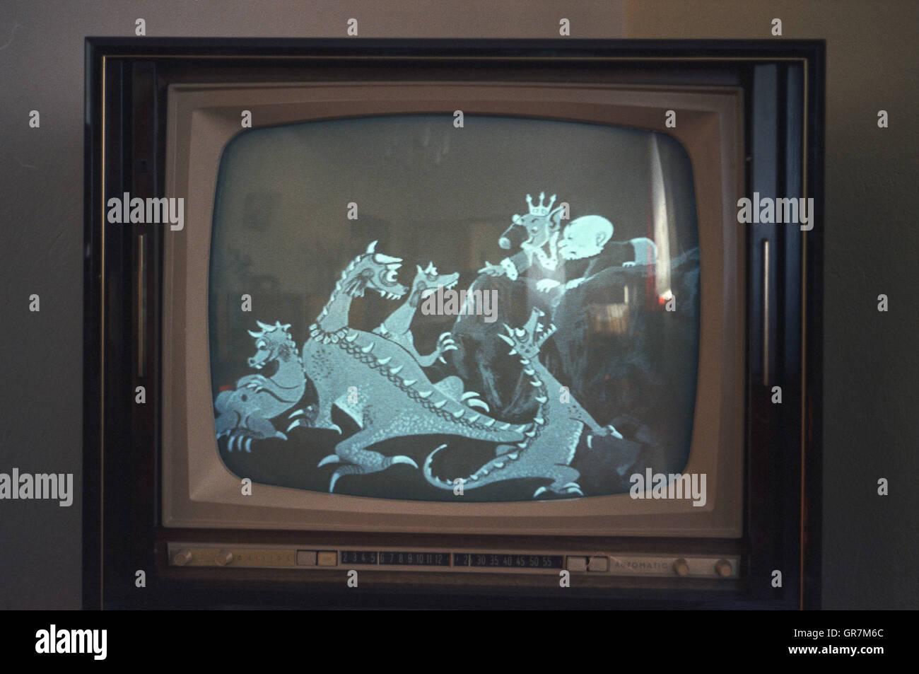 Tv Bw Historically - Stock Image