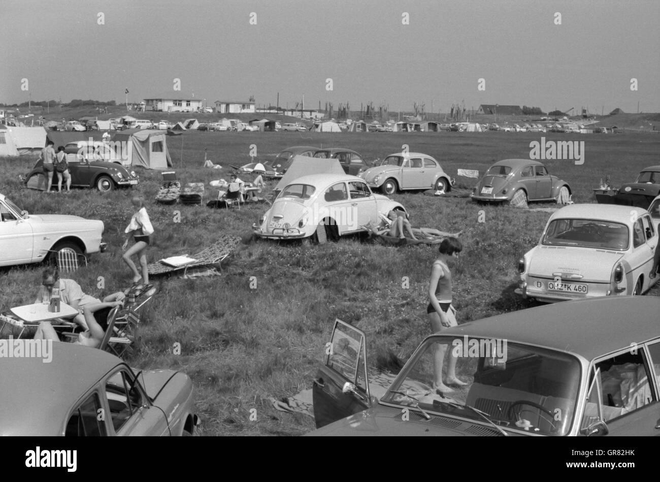 Beach Summer 1966 - Stock Image