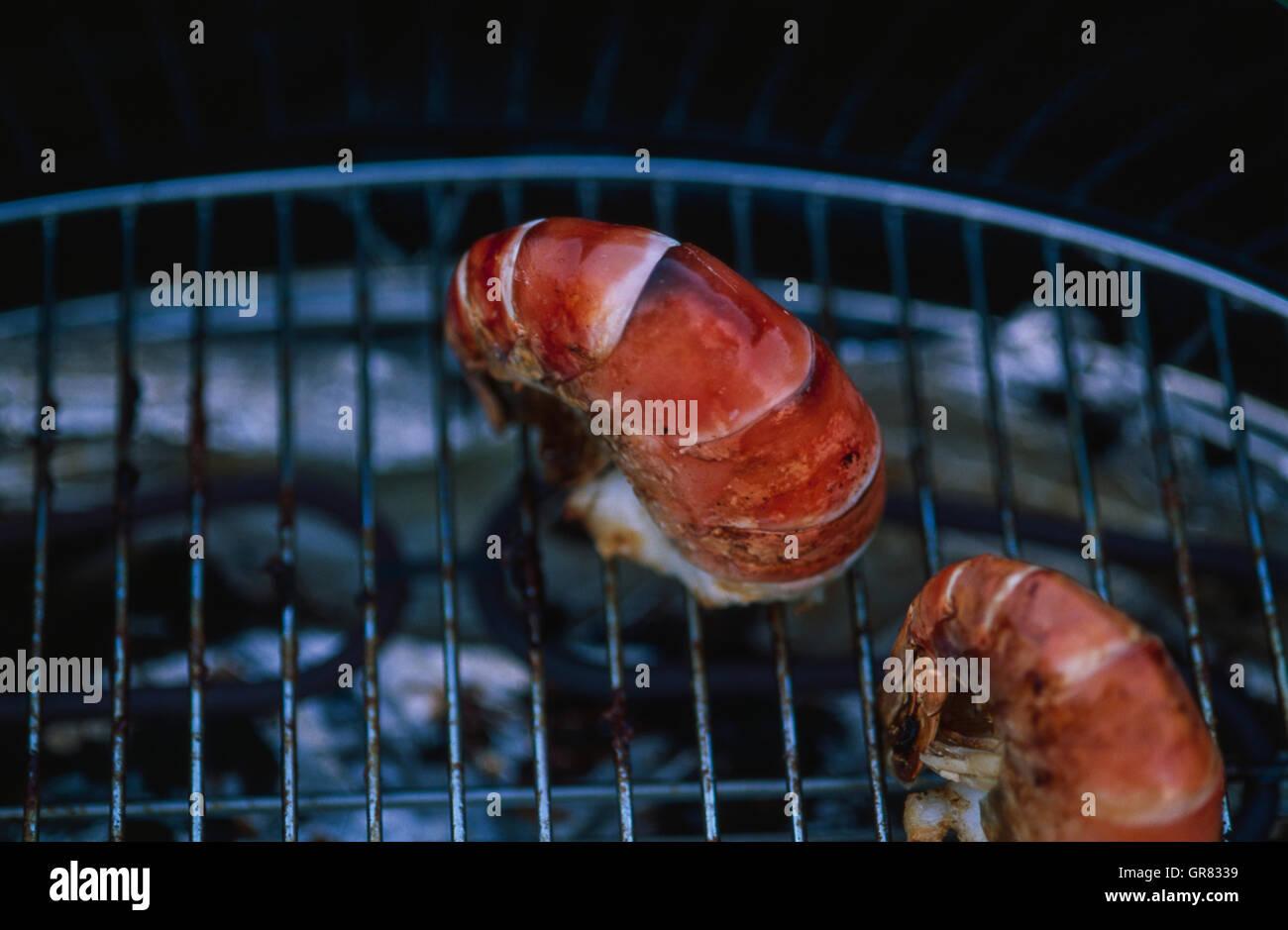 Crustaceans Grilling - Stock Image