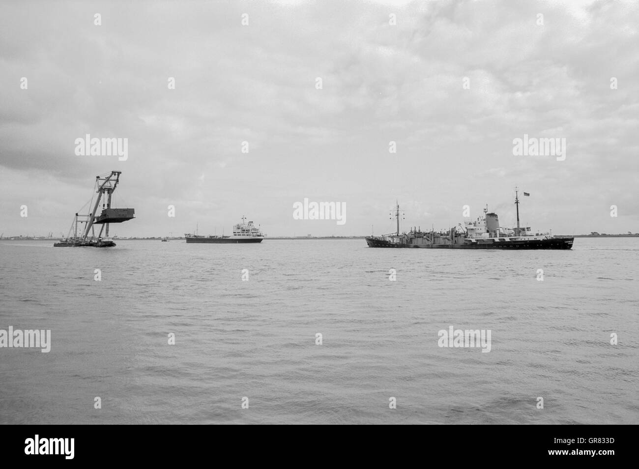 Enak Floating Crane 1972 - Stock Image