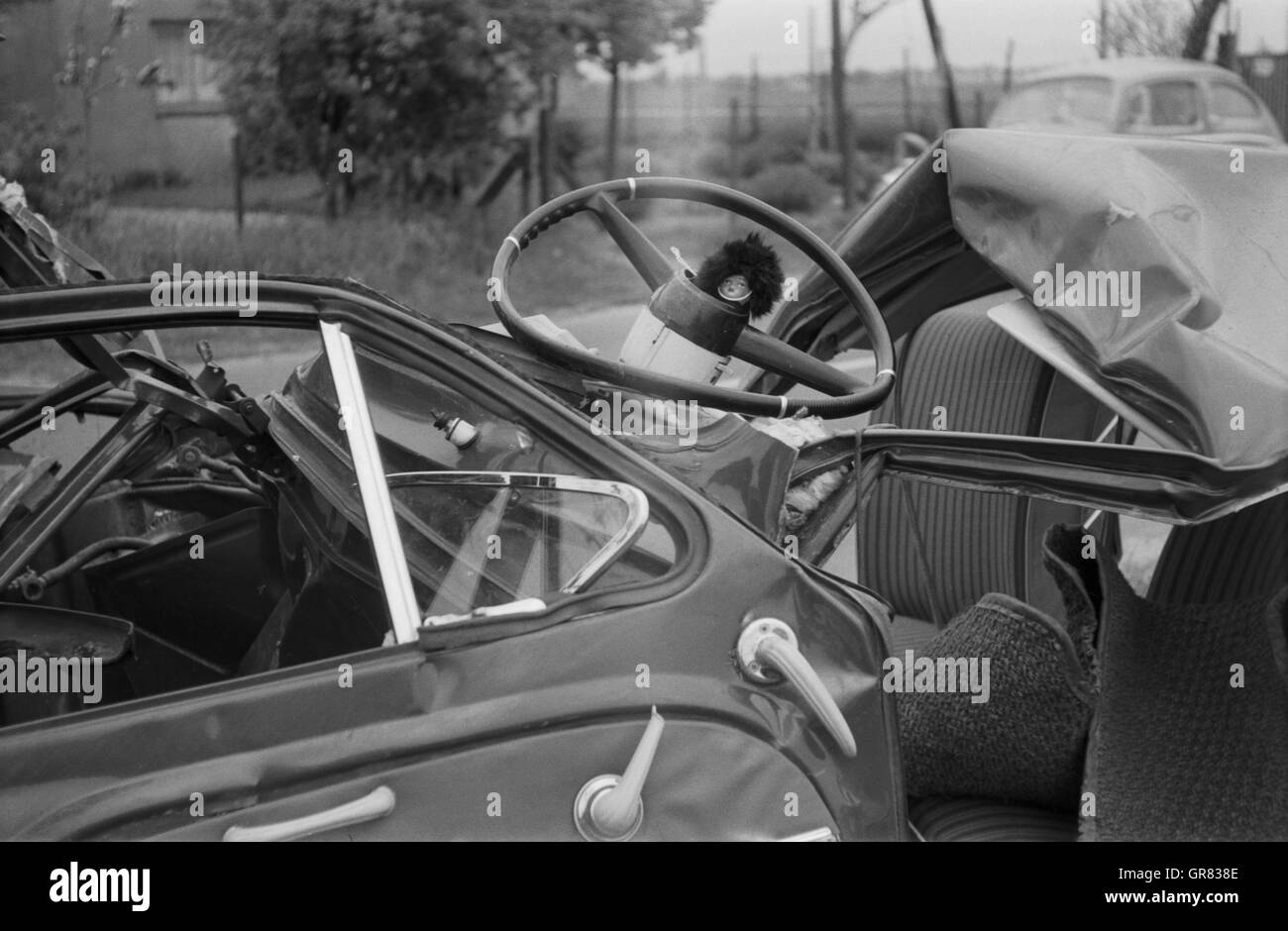 Accident Car 1965 Stock Photo
