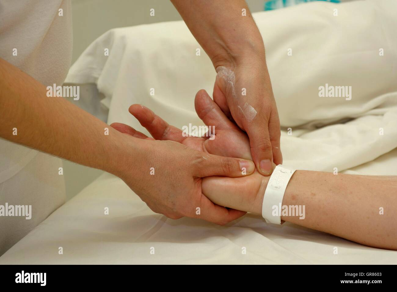 Hand Massage At The Spa Cegled - Stock Image