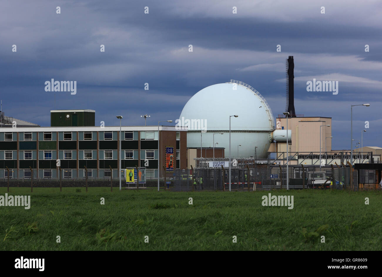 Scotland, highlands, north coast of Scotland, Donreay KKW, prototype Almost Reactor - Stock Image