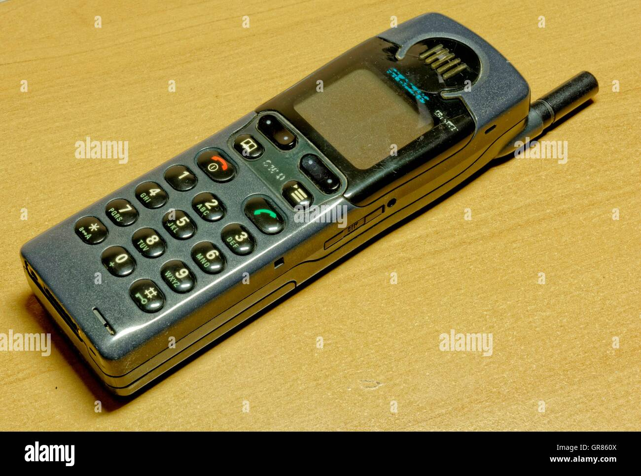 Old Mobile Phone , Mobile Phone Antenna - Stock Image
