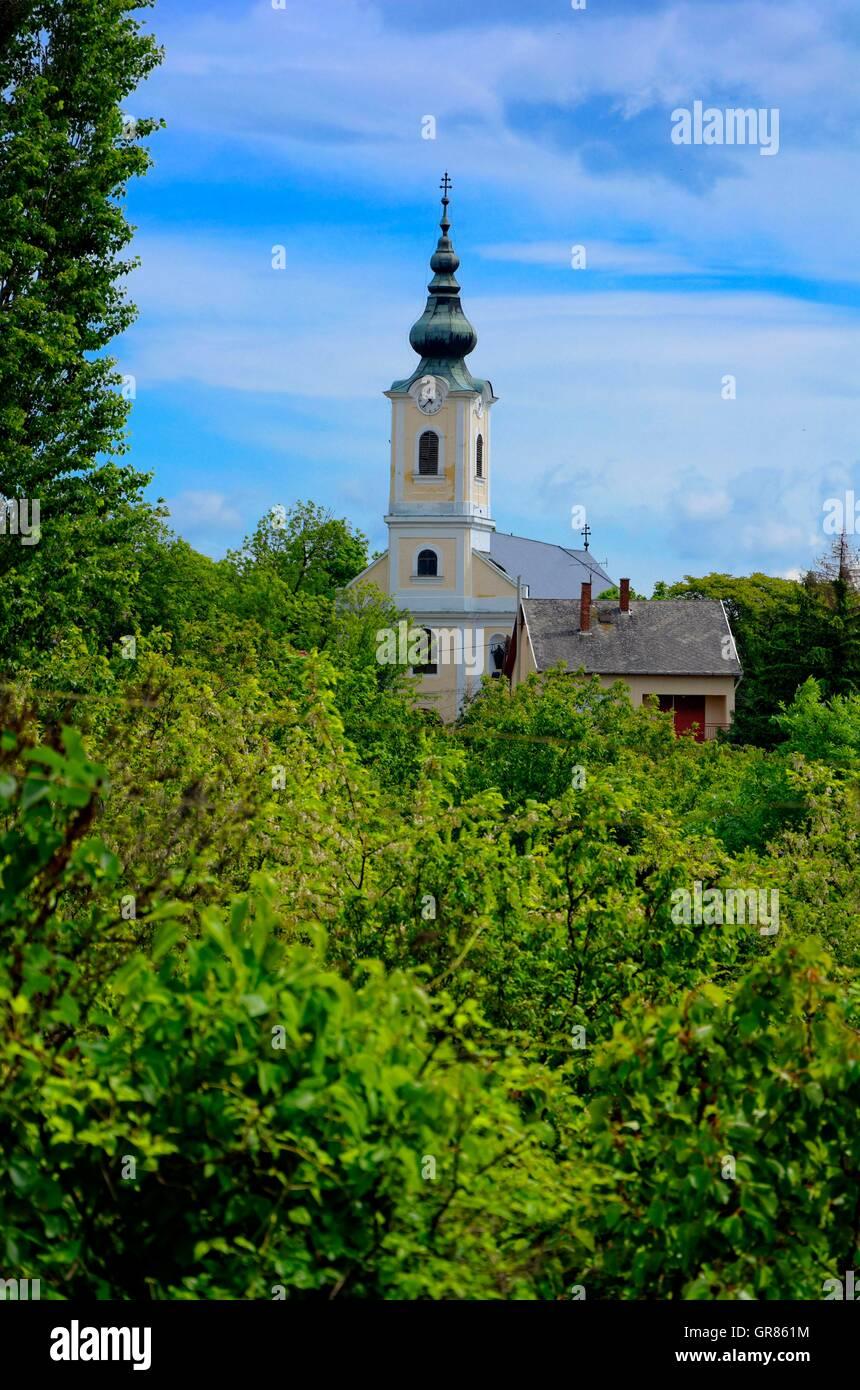 Baroque Parish Church Of Abasár In Hungary Stock Photo
