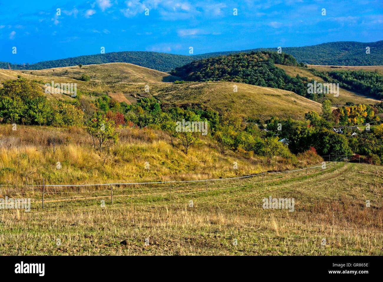 Hilly Landscape As An Aesthetic Wholeness - Stock Image