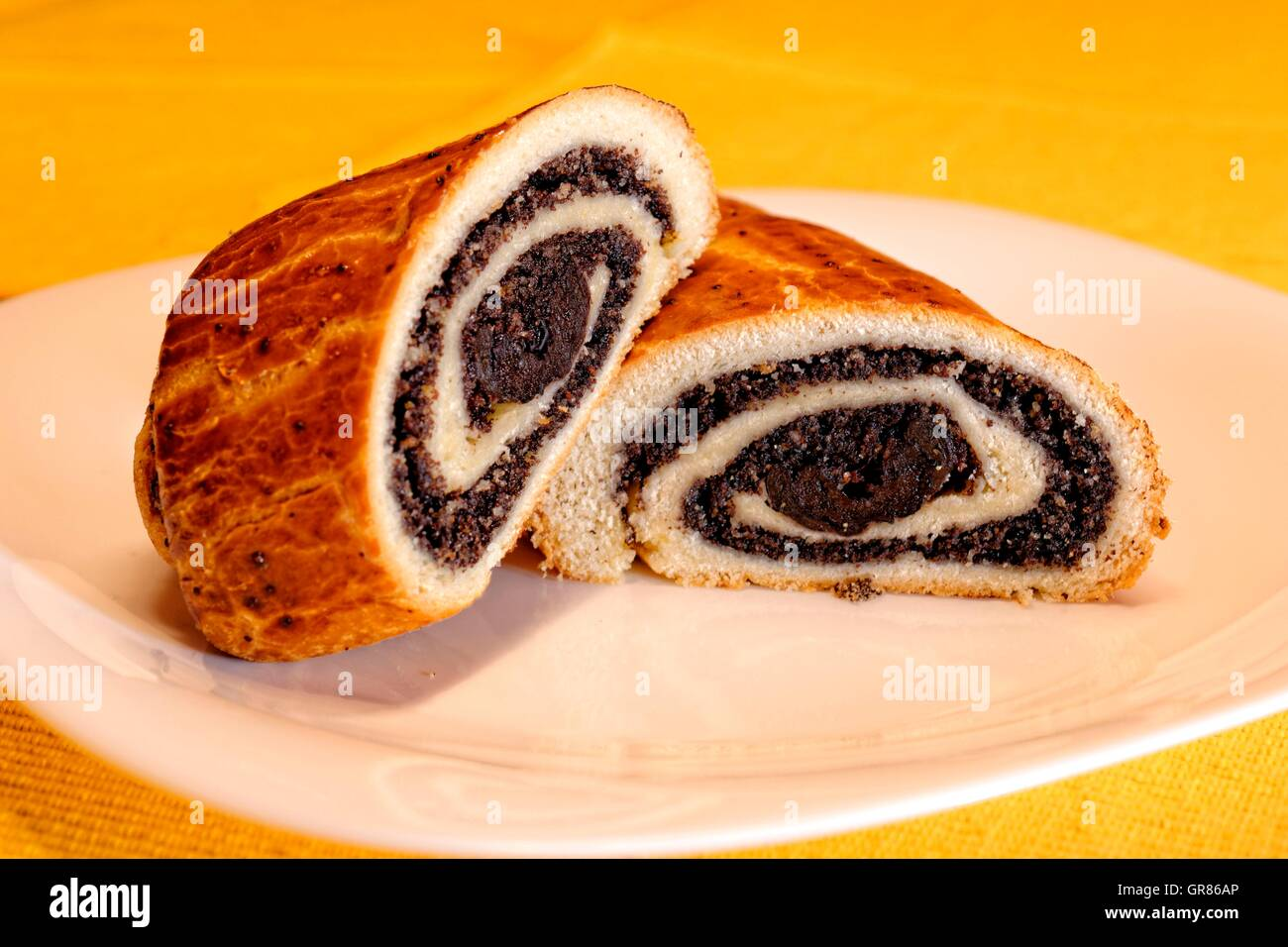 Poppy Beigli Or Poppy Seed Roll With Dried Plums, An Old-Fashioned ...