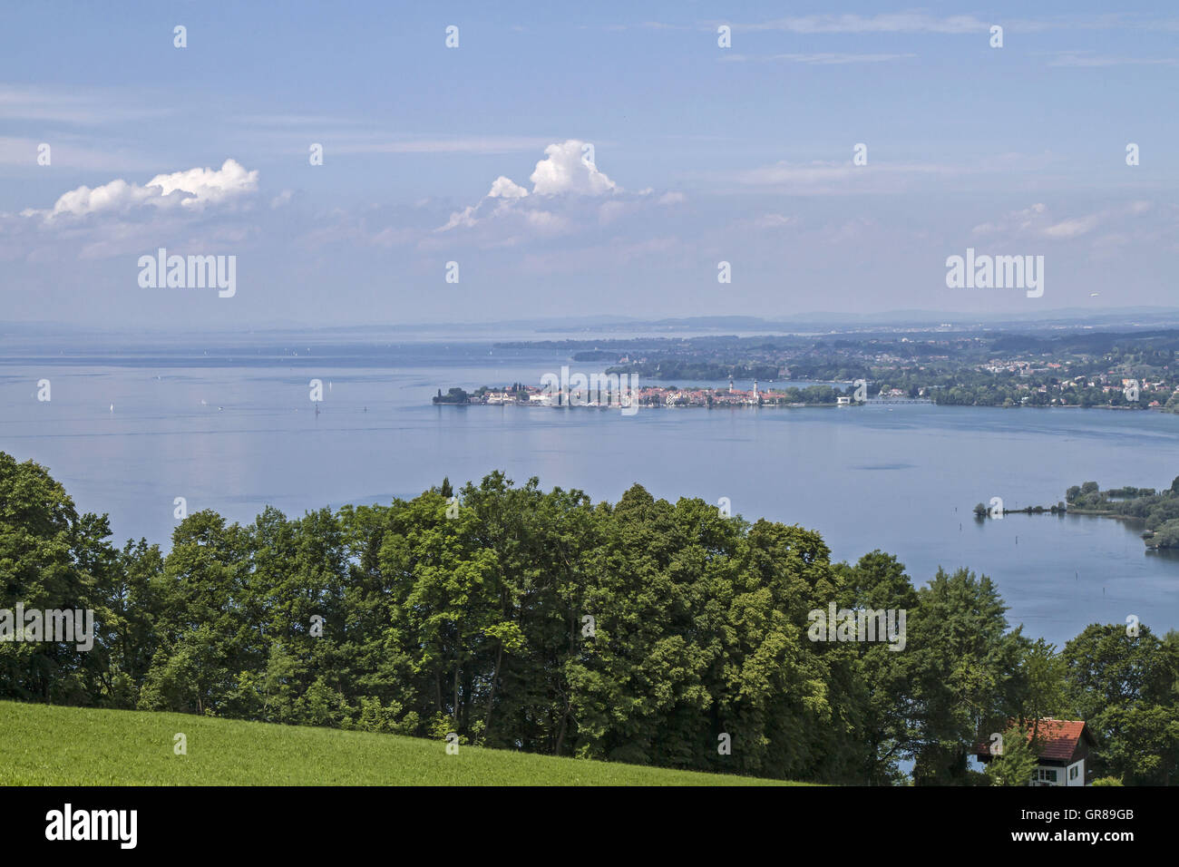 View From Pfaender To Lake Bodensee Stock Photo