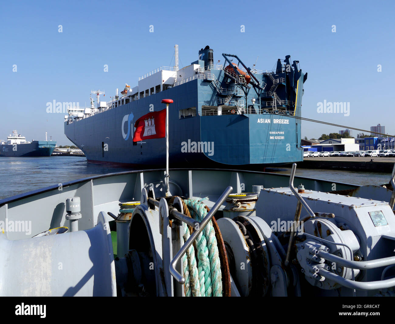 Carcarrier And Tug - Stock Image