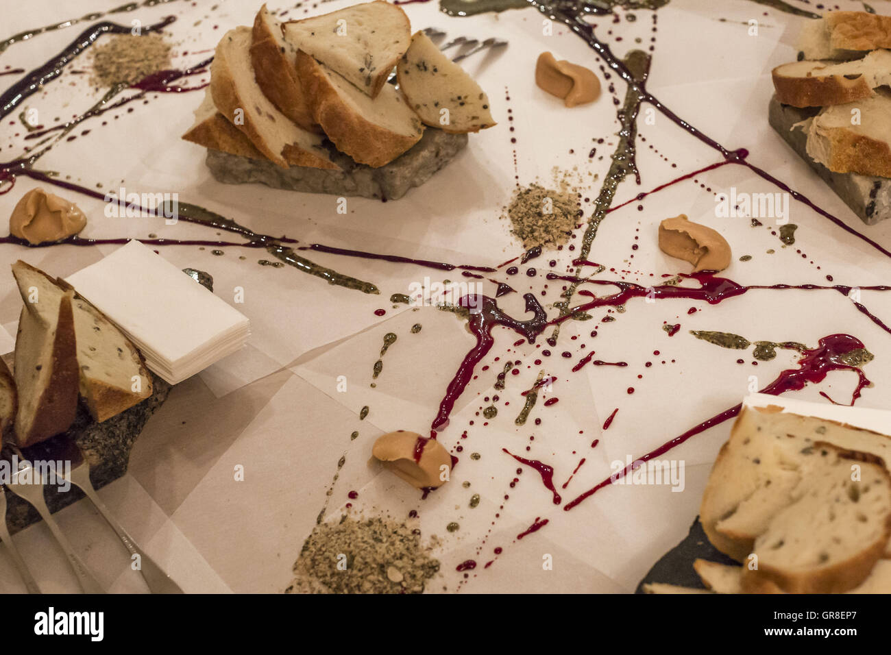 Original Appetizer On Latvian Manner - Stock Image