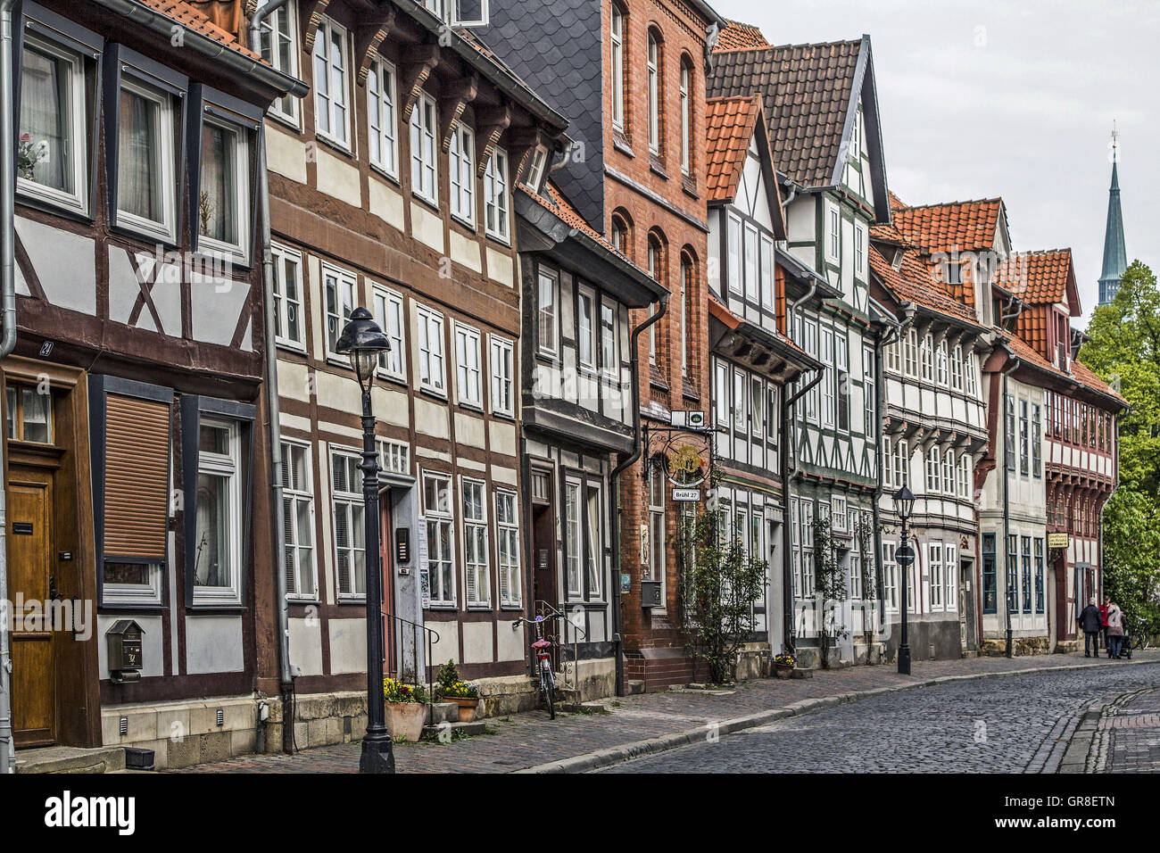 The Old City Of Hildesheim In Lower Saxony Is Characterized By Its Historic Buildings Stock Photo