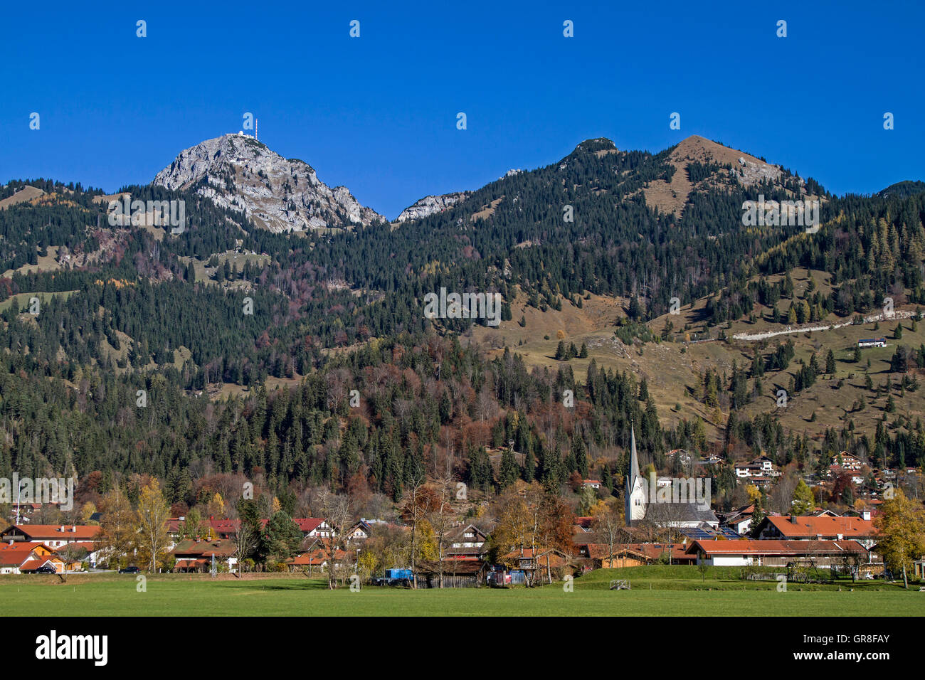 Bayrischzell And Wendelstein - Stock Image