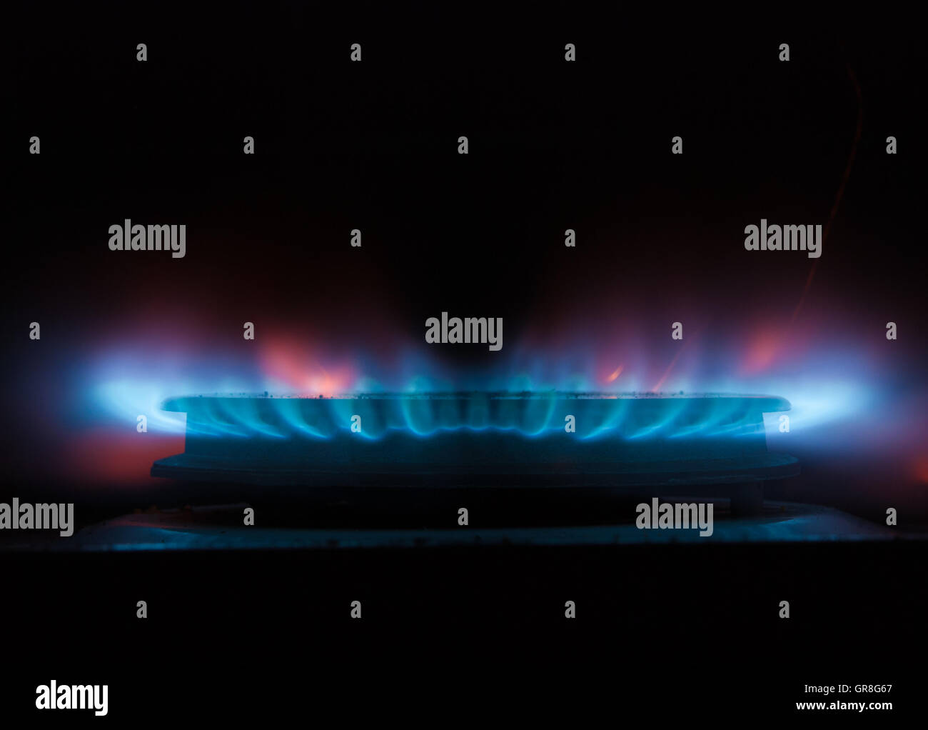 Gas Hob Ring - Stock Image