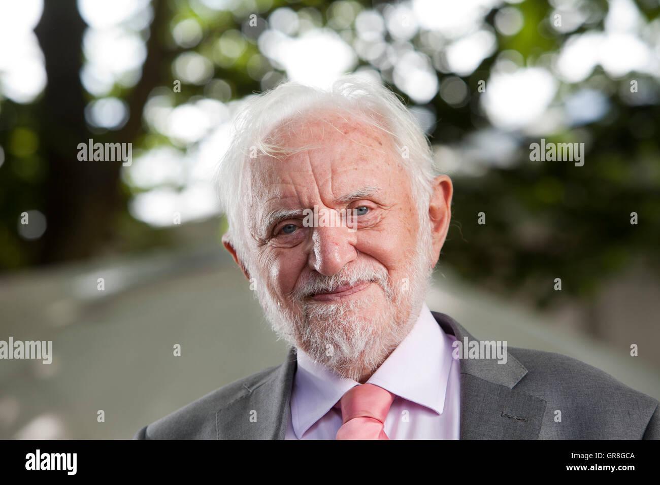 Sir Stanley William Wells CBE, the British Shakespearean scholar at the Edinburgh International Book Festival. Edinburgh, - Stock Image